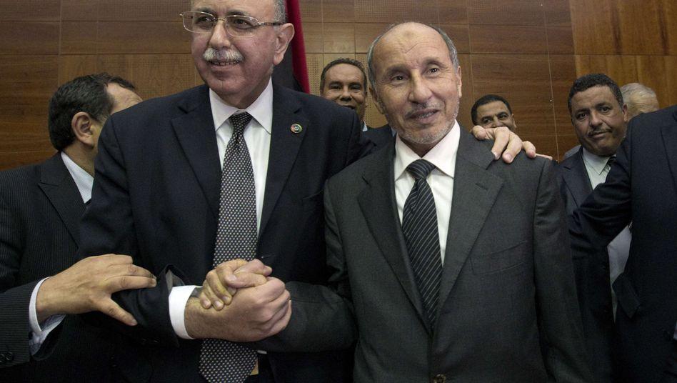 Neuer Regierungschef: Abdel Rahim el Kib (li.) mit Präsident Dschalil