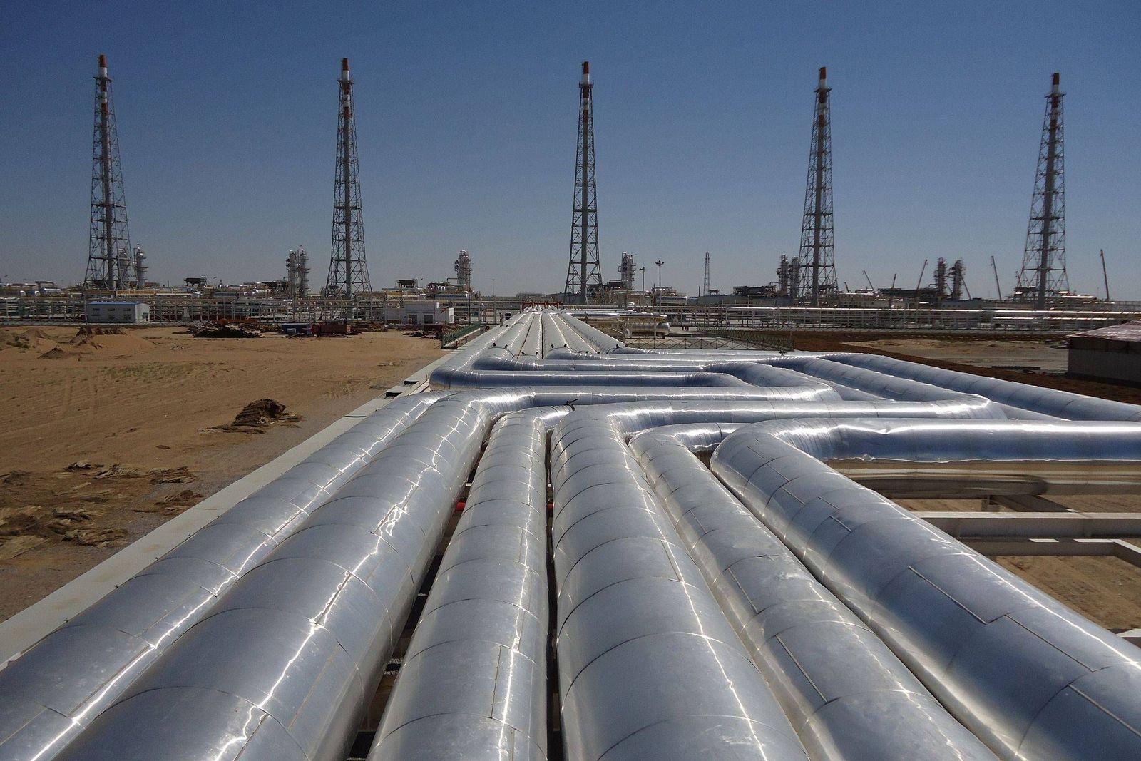 EINMALIGE VERWENDUNG Gasfeld in Turkmenistan