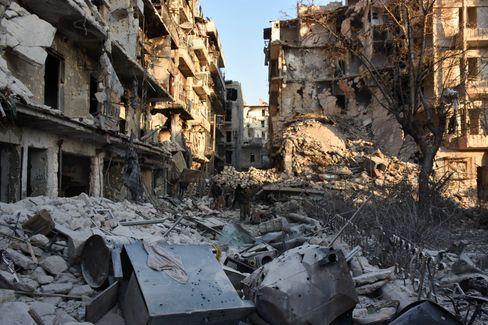 Zerstörtes Viertel in Aleppo 2016