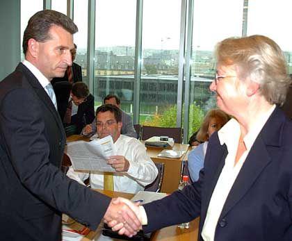 Oettinger und Schavan: Wenig Gemeinsamkeiten in der Gesundheitspolitik
