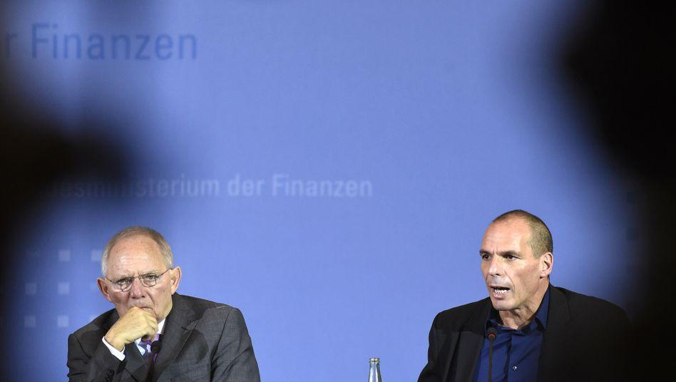 Finanzminister Schäuble und Varoufakis: Die Kompromisslosen