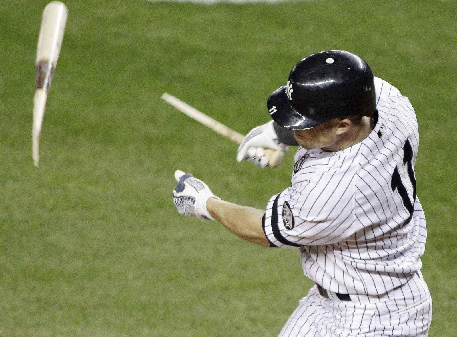 Yankees-Spieler Garnder zersplittert Schläger