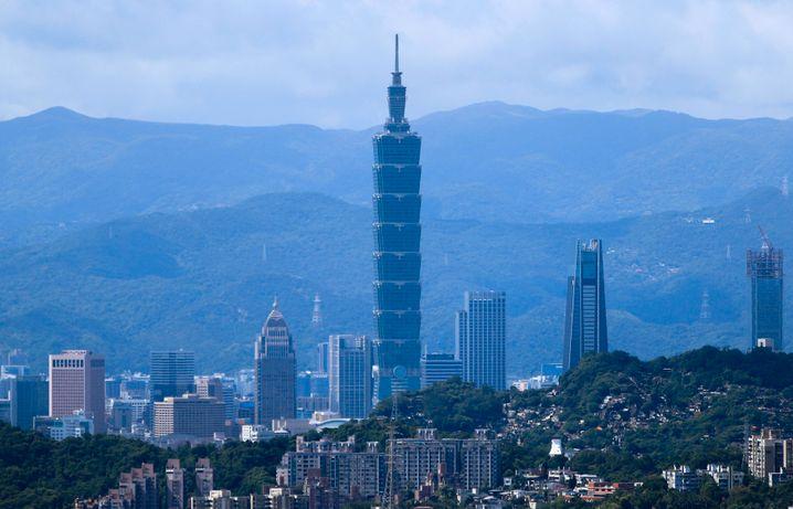 Der Taipei 101 in der taiwanischen Hauptstadt Taipeh war mit 508 Metern von 2004 bis 2007 das höchste Gebäude der Welt