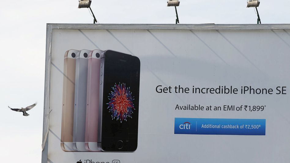 iPhone-Werbung in Indien