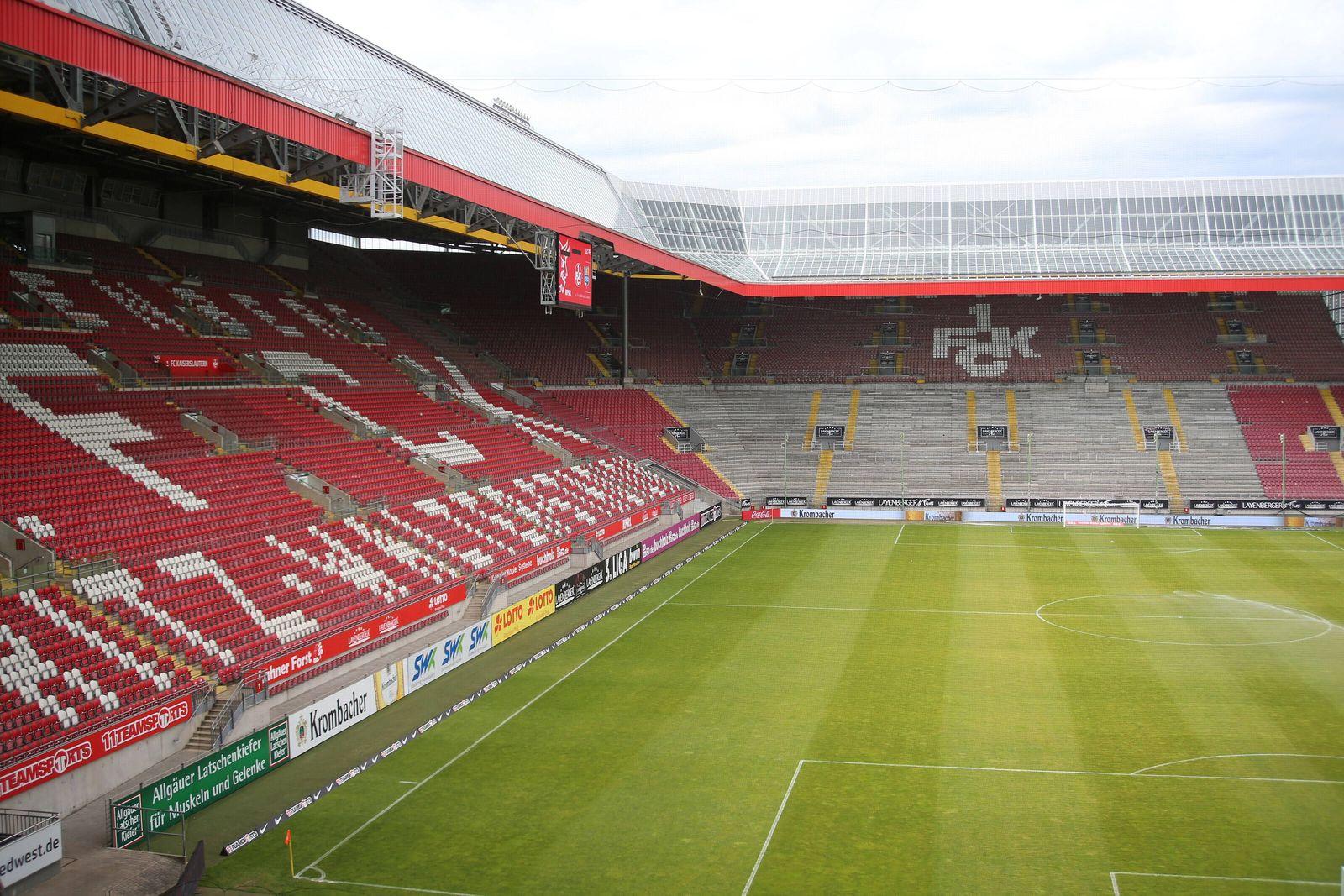 13.06.2020, xklex, Fussball 3.Liga, 1.FC Kaiserslautern - Chemnitzer FC emspor, v.l. Fritz-Walter-Stadion, Geisterspiel