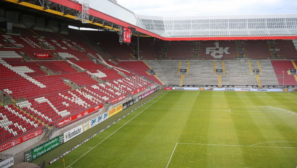 Das leere Fritz-Walter-Stadion in Kaiserslautern