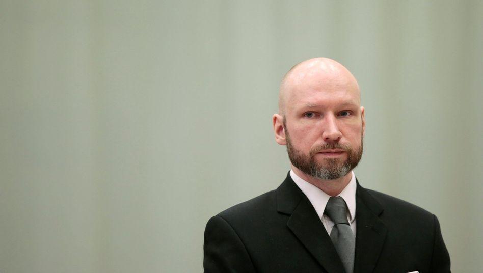 Anders Behring Breivik vor Gericht (im Januar)