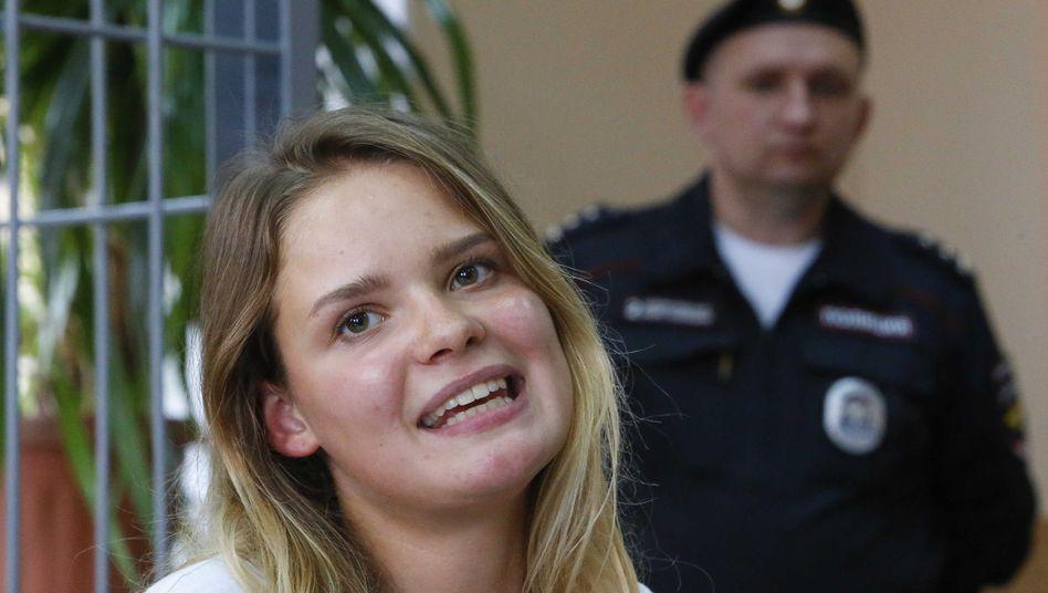 Veronika Nikulschina, verurteiltes Mitglied von Pussy Riot