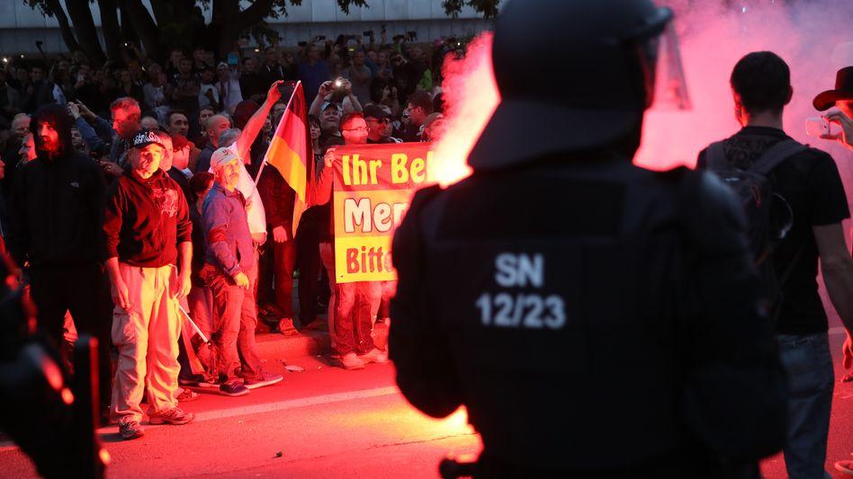 Demo in Chemnitz am 27. August