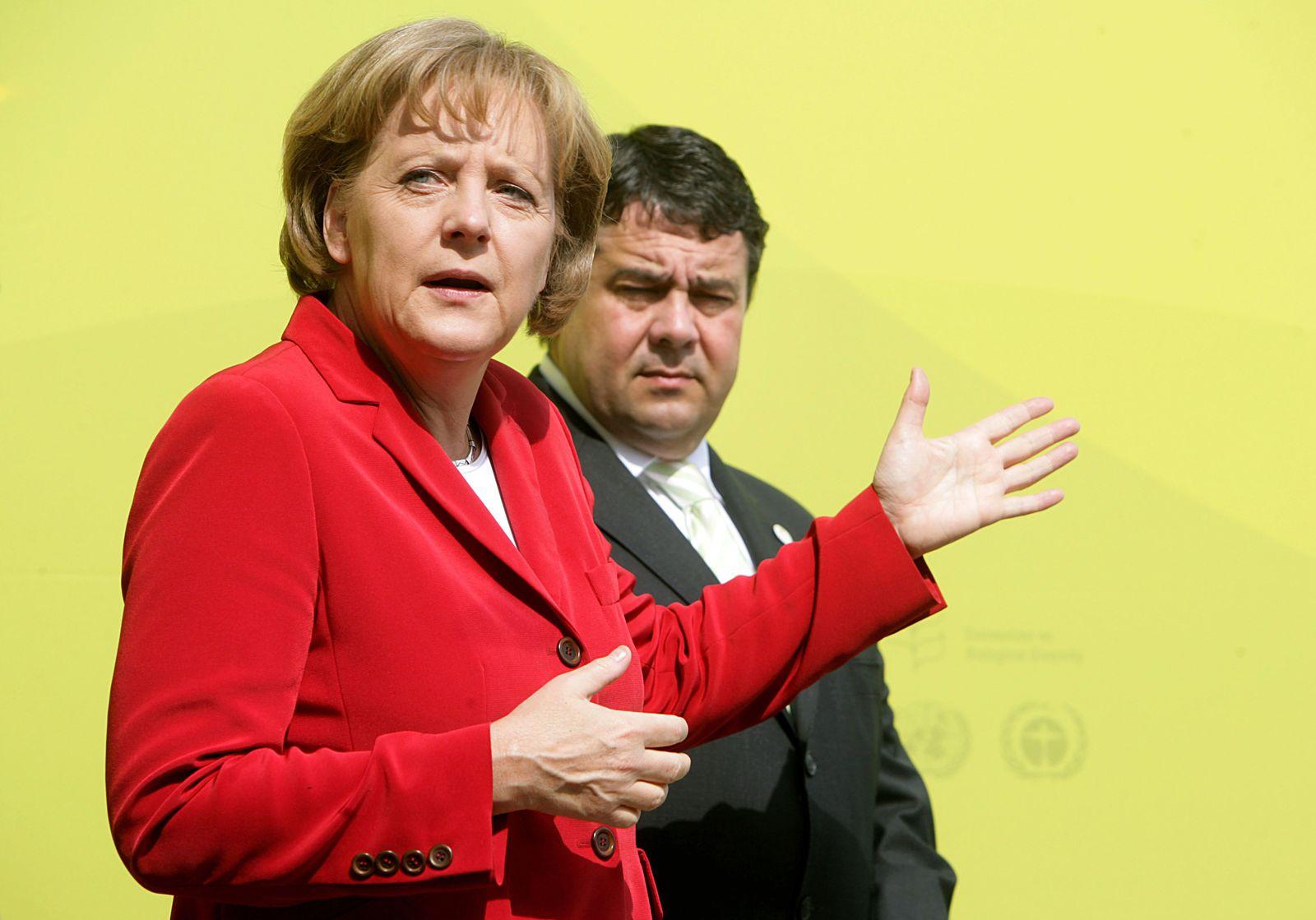 Merkel und Gabriel 2008