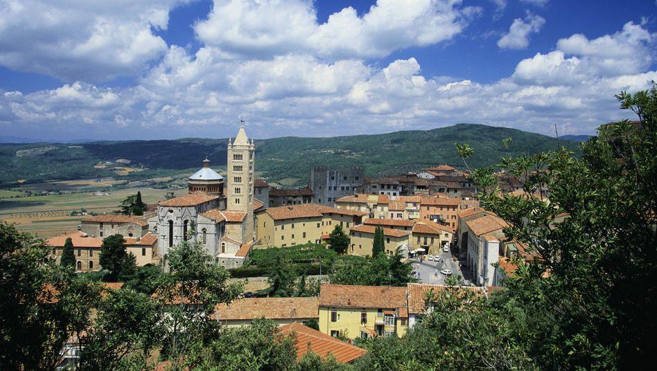The village of Massa Marittima in Tuscany, Italy.