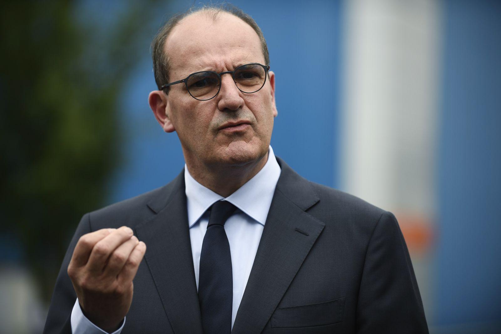French Prime minister Jean Castex visits X-FAB, Le Coudray Montceaux, France - 04 Jul 2020