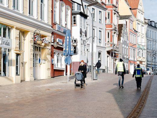 Innenstadt von Flensburg: Fast jeder neu gemeldete Fall ist auf die britische Mutante zurückzuführen, glaubt der Stadtsprecher