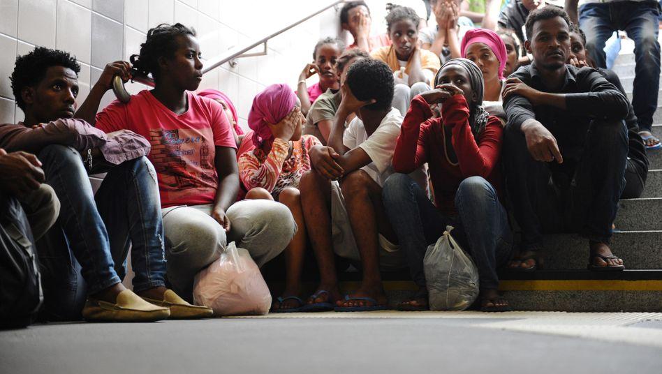 Flüchtlinge im bayerischen Rosenheim (im August): Waren sie je im Bode-Museum?