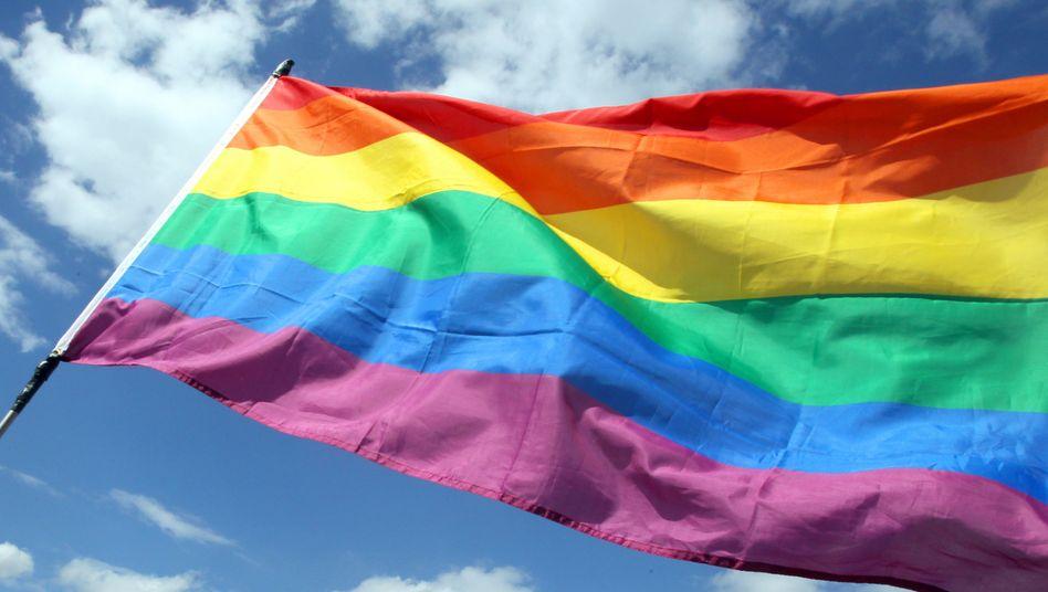 Die Regenbogenfahne, Symbol der LGBT-Community