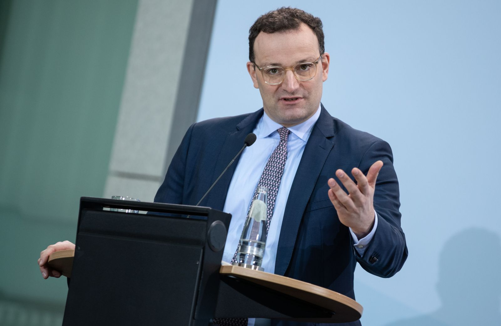 Press conference with German Health Minister Jens Spahn in Berlin, Germany - 06 Jan 2021