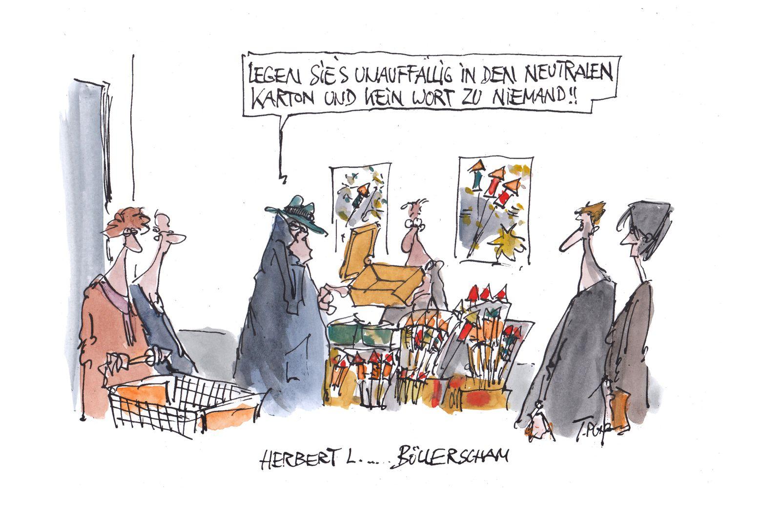 EINMALIGE VERWENDUNG Cartoons/ 29.12.19