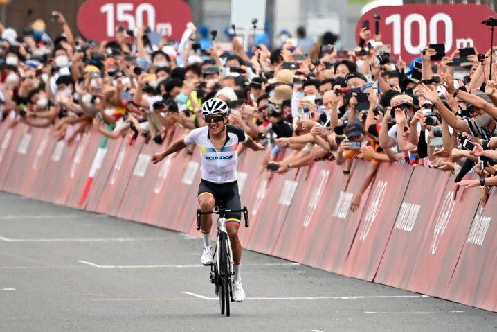Zuschauer beim Radrennen in Tokio
