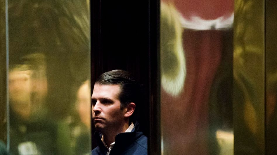 Donald Trump junior im New Yorker Trump Tower (Archivbild)