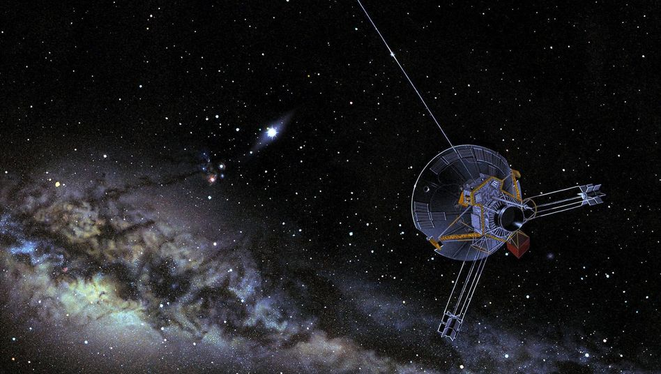 """""""Pioneer""""-Raumsonde (künstlerische Darstellung): Hitze bremst die Raumfahrzeuge."""