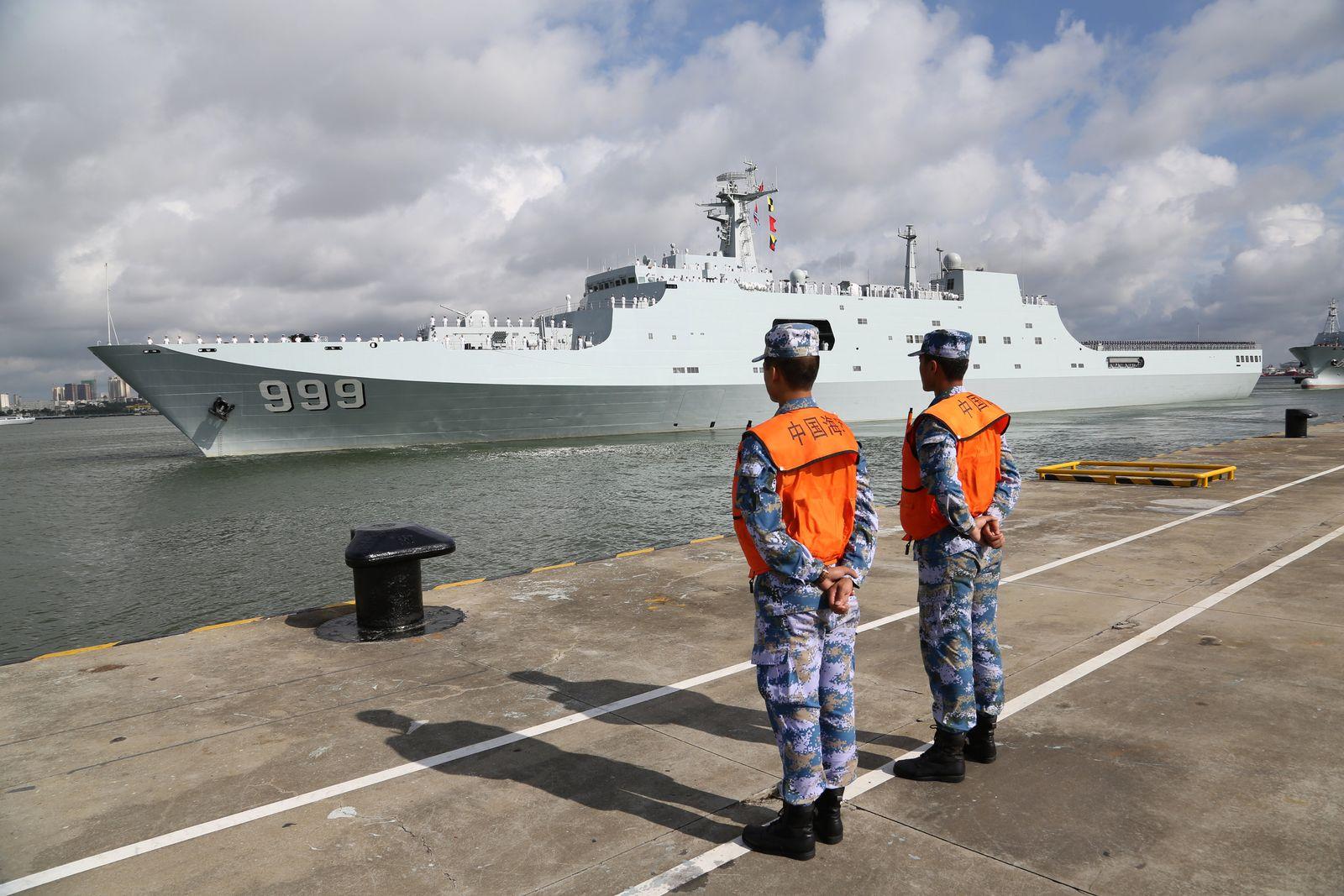 China / Kriegsschiff/ Dschibuti