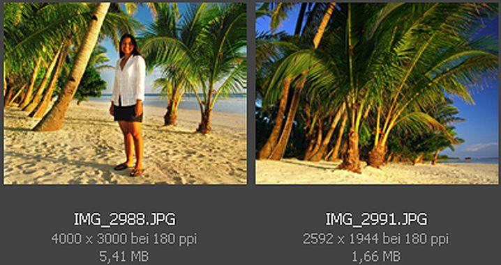 Pixel-Koloss: Die Zwölf-Megapixel-Bilddatei links belegt gut dreimal mehr Platz auf Ihrer Speicherkarte als die Fünf-Megapixel-Variante.