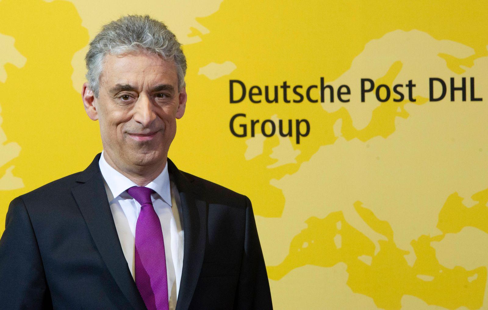 Dr. Frank APPEL (Vorstandsvorsitzender, CEO, Global Business Services) Bilanzpressekonferenz der Deutsche Post DHL Group