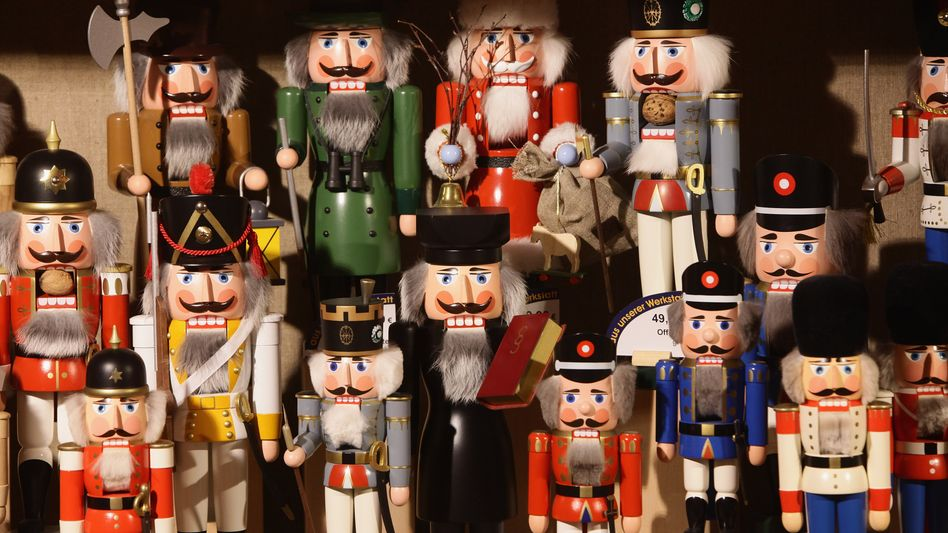 Under threat -- German-made nutcrackers at a factory in the eastern village of Seiffen, where many of the crafts are made.
