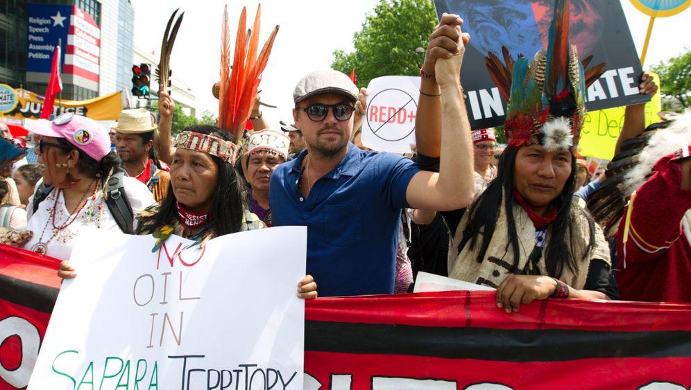 Marsch für das Klima: Leonardo DiCaprio protestiert gegen Trump