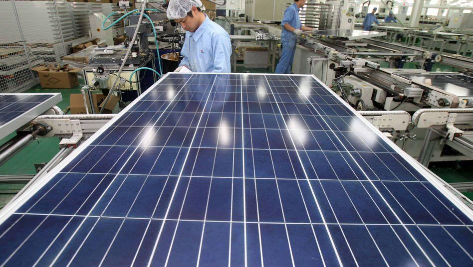 Chinesische Solarfabrik: Geschätzte 45 Gigawatt pro Jahr