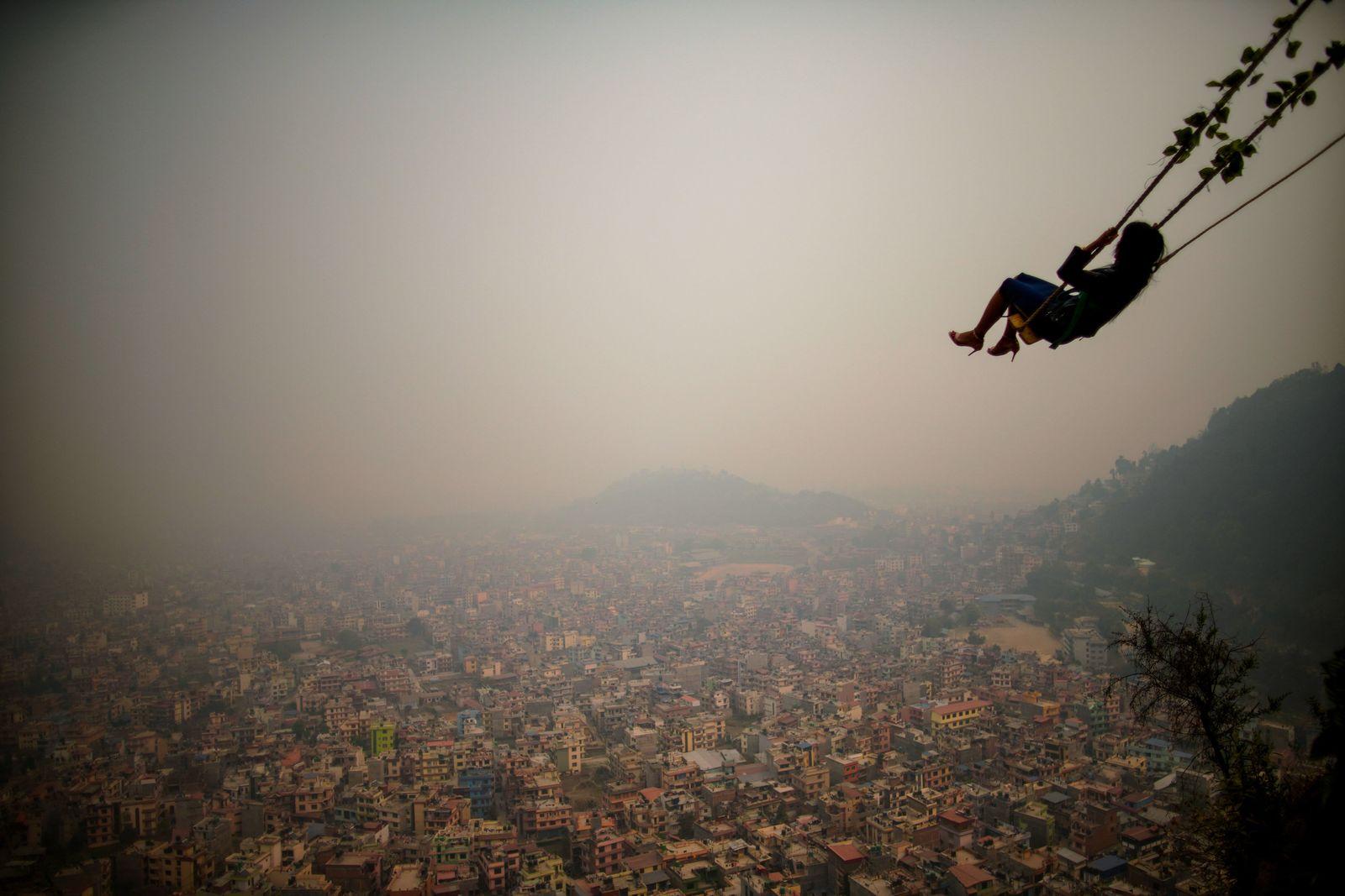 Nebel über Kathmandu