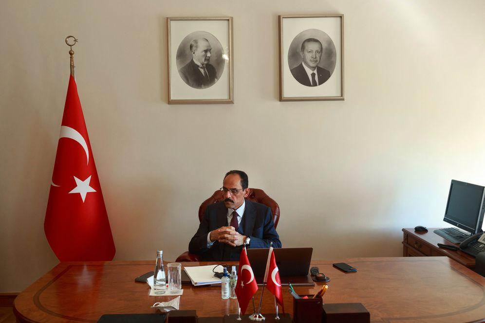 Ibrahim Kalın in his office in Istanbul