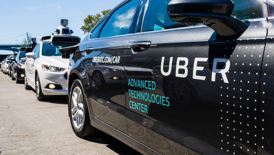 Ein autonomes Uber-Auto.