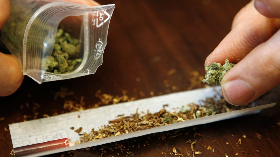 Marihuana-Konsument mit Joint: Widerlich geschmeckt