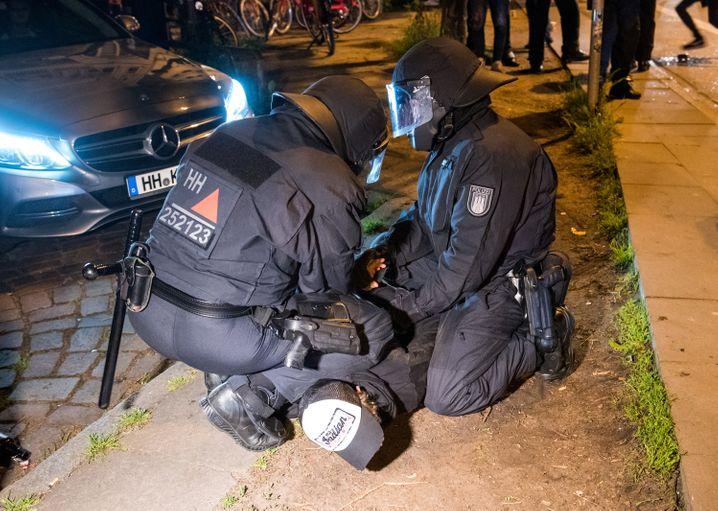 Polizeieinsatz im Hamburger Schanzenviertel