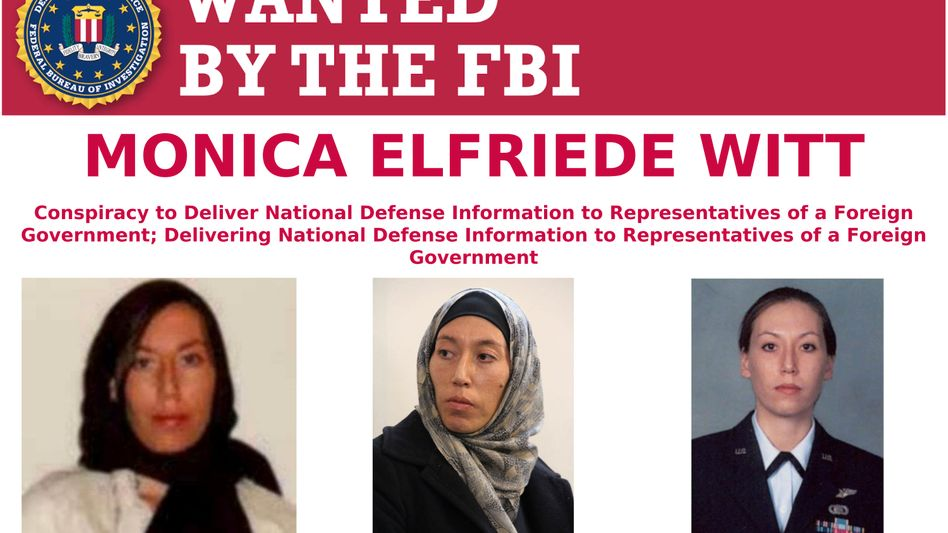"Witt auf dem ""Wanted""-Poster des FBI"