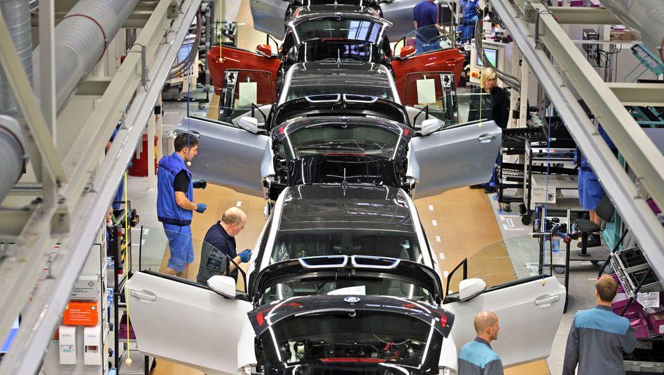 Produktion von Elektrowagen in BMW-Werk