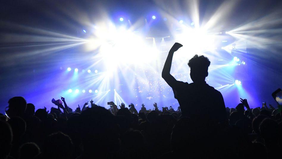 Besucher bei einem Rockkonzert (Archivbild)
