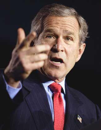 George W. Bush: Auf Erfolg die Präsidentschaft verwettet?