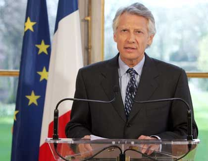 French Prime Minister Dominique de Villepin's hopes to become president next year are in tatters.