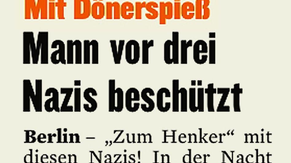 Aus dem »Berliner Kurier«