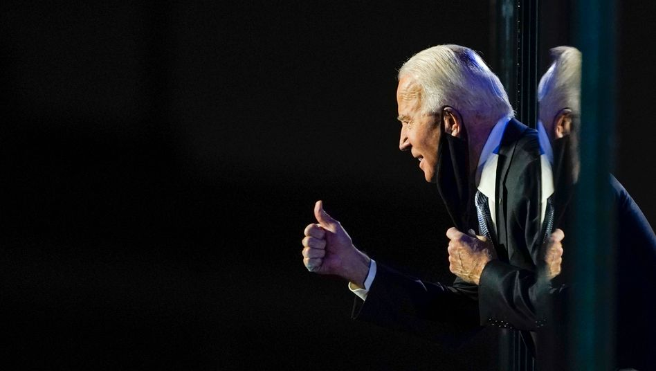 Joe Biden bei der Wahlparty in Wilmington, Delaware