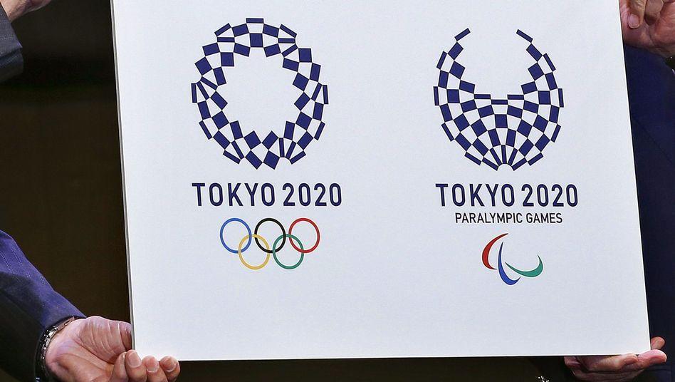 Logos der Sommerspiele in Tokio 2020
