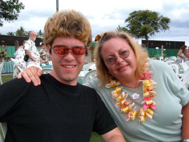 Matthew und Mutter Leann DeHart
