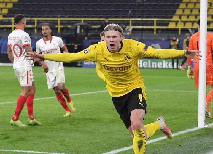Erling Haaland: Im Viertelfinale gegen Manchester City rausgeflogen