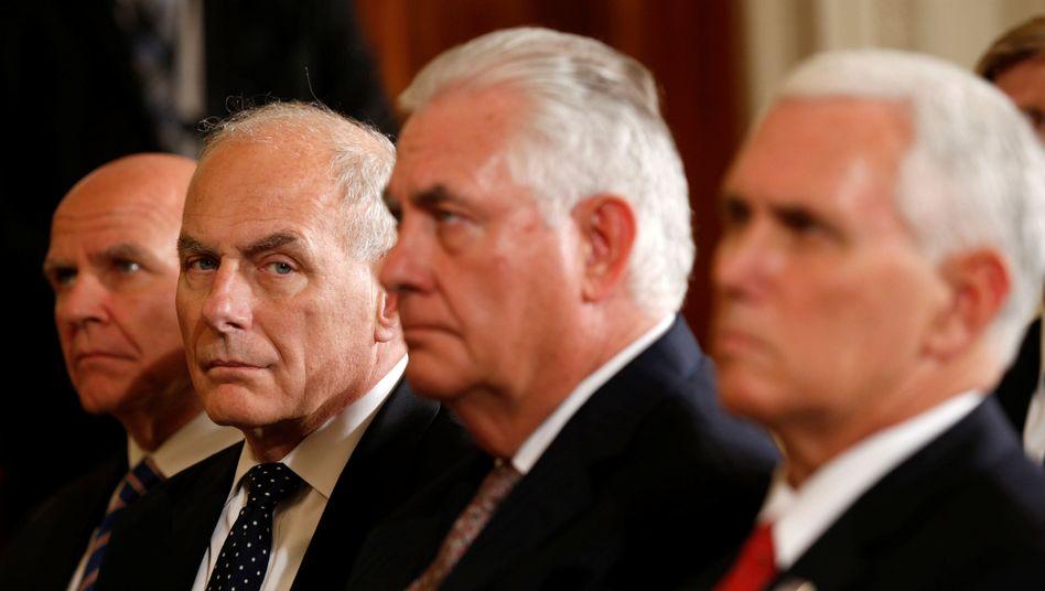 H.R. McMaster, John Kelly und Rex Tillerson (von links)