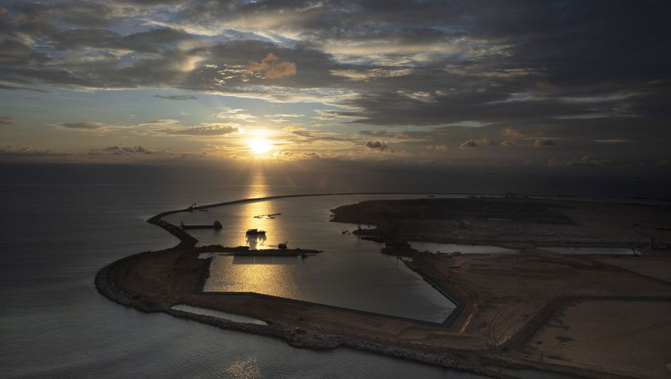 Hafenprojekt in Sri Lanka