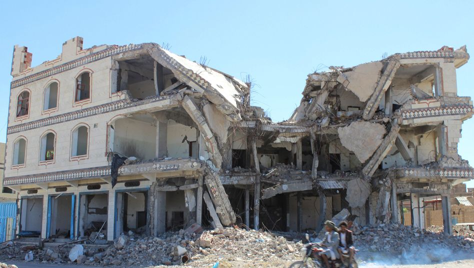 Zerstörtes Haus im Jemen (Archivbild)