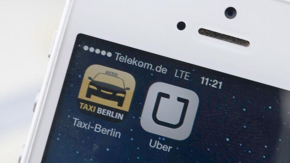 "Handy-Apps ""Uber"", ""Taxi Berlin"": Konkurrenz der Fahrdienste"