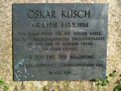 Gedenktafel in Kiel